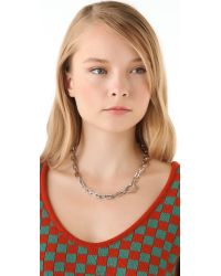 Marc By Marc Jacobs - Metallic Mini Link Necklace - Lyst