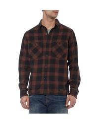 Neighborhood Black Check Cotton Shirt for men