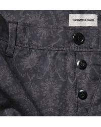 Undercover Blue Printed Cotton Trousers for men