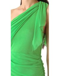 Alice + Olivia | Green One Shoulder Drape Dress | Lyst