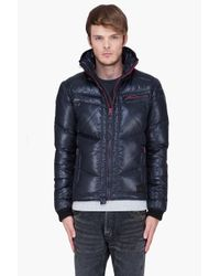 DIESEL | Black Padded Hooded Weroxim Jacket for Men | Lyst