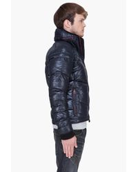 DIESEL | Black Padded Hooded Weroxim Jacket for Men | Lyst
