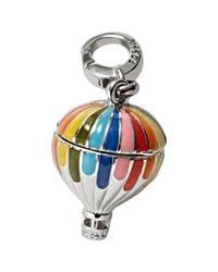Fossil | Metallic Silvertone Rainbow Enamel Hot Air Balloon Charm | Lyst