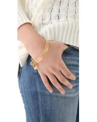 Marc By Marc Jacobs   Metallic Set Of 3 Mini Links Classic Icons Bangles   Lyst