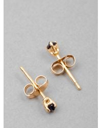 Blanca Monros Gomez - Blue Gold Tiny Sapphire Stud Earring - Lyst