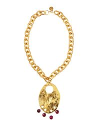 Devon Leigh | Metallic Berry Drop Chain Necklace | Lyst