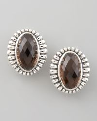 Lagos | Metallic Venus Fluted Earrings Smoky Topaz | Lyst