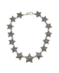 Mango - Metallic Touch Strass Stars Chocker - Lyst