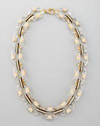 Rachel Zoe | Metallic Lucitelink Necklace | Lyst
