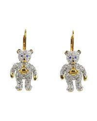 Vivienne Westwood | Metallic Little Pave Teddy Earrings | Lyst