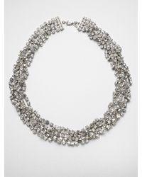 ABS By Allen Schwartz | Metallic Twisted Multirow Necklace | Lyst