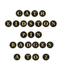 Cath Kidston - Black Cath Kidston Alphabet Letter Pin Badge - Lyst