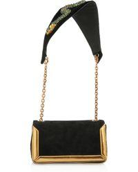 Christian Louboutin | Black Artemis Medusa Suede Shoulder Bag | Lyst