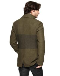 Gap Brown Gap X Gq Ian Velardi Blanket Stripe Peacoat for men