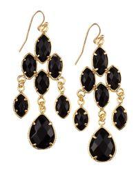 Kendra Scott Black Rachel Chandelier Earrings