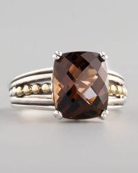 Lagos | Metallic Silver Illumine Small Ring Smoky Topaz | Lyst