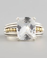 Lagos | Metallic Silver Prism Small Ring White Topaz | Lyst