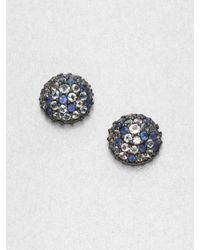 M.c.l  Matthew Campbell Laurenza | Blue Sapphire, White Topaz, Blue Topaz & Sterling Silver Button Earrings | Lyst