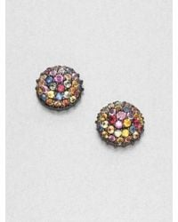 M.c.l  Matthew Campbell Laurenza   Multicolored Sapphire & Sterling Silver Button Earrings   Lyst
