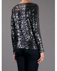 MICHAEL Michael Kors Black Long Sleeved Sequin Top