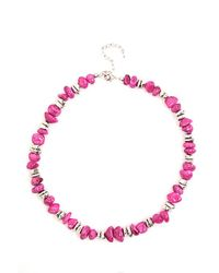 Minuet Petite | Bright Pink Bead Necklace | Lyst
