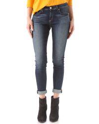 Rag & Bone | Blue Midrise Skinny Jeans | Lyst
