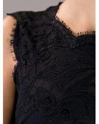Emilio Pucci | Black Lace Peplum Top | Lyst
