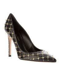 Gianvito Rossi | Black Studded Pump | Lyst