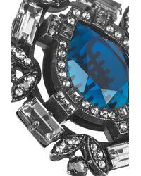 Lanvin | Silver Oversized Swarovski Crystal Ring | Lyst