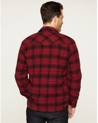 Lucky Brand - Red Winchester Sherpalined Shirt Jacket for Men - Lyst