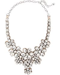 Valentino | White Floral Glass Crystal Necklace | Lyst