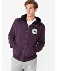 Converse   Purple Converse Procession Mens Zip Through Hoodie for Men   Lyst
