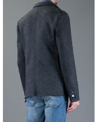 De'Hart | Gray Double Breasted Sweater for Men | Lyst