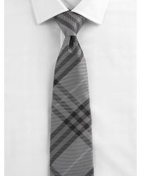 Burberry | Natural Check Silk Tie for Men | Lyst