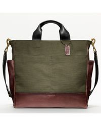 COACH | Natural Bleecker Legacy Canvas Utility Tote for Men | Lyst