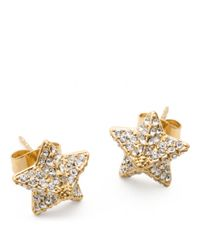 COACH | Metallic Pave Pyramid Star Earrings | Lyst