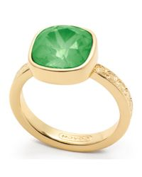 COACH Green Square Stone Ring