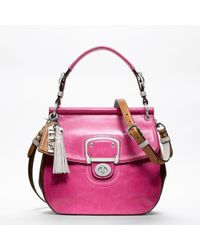 COACH - Pink Leather Colorblock New Willis - Lyst