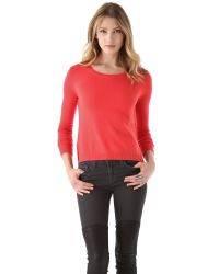 J Brand | Red Astrid Cashmere Sweater | Lyst