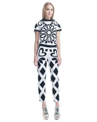 Moschino | White Stretch Canvas Pants | Lyst