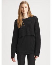 Acne Studios Black Hurst Layered Sweater
