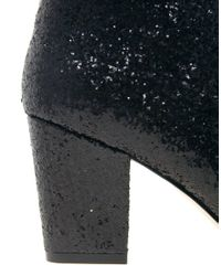 ASOS Black Asos All That Jazz Glitter Ankle Boots