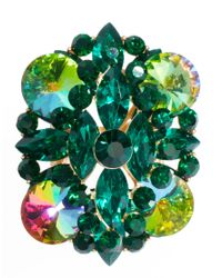 ASOS | Green Multi Stone Cocktail Ring | Lyst