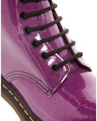 Dr. Martens - Purple Dr Martens Modern Classics 8-eye Patent Boot - Lyst
