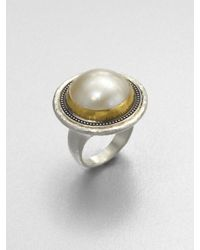 Gurhan | Metallic White Mabe Pearl Sterling Silver Ring | Lyst
