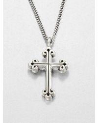 King Baby Studio Metallic Traditional Cross Pendant Neclace for men