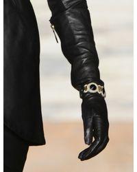Temperley London Black Orb Leather Cuff