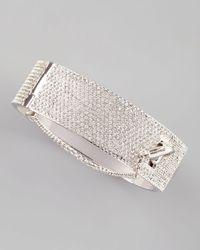 Eddie Borgo | Metallic Pave Crystal Safety Chain Cuff | Lyst