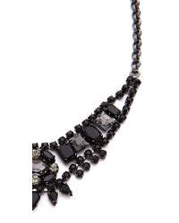Juicy Couture - Black Jet Rhinestone Bib Necklace - Lyst