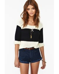 Nasty Gal | Blue Sailors Cut Off Shorts  | Lyst